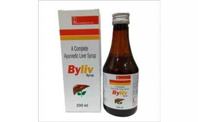 Ayurvedic Liver Formulations Syrup  in Mono cartoon