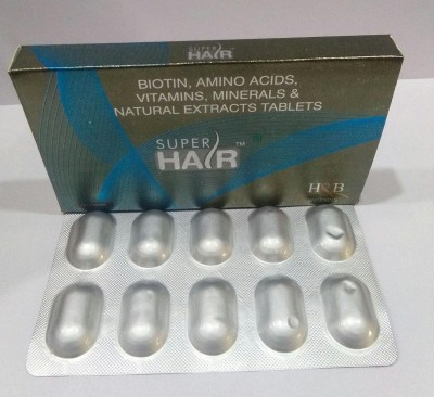 SUPER HAIR (BIOTIN, AMINO ACIDS, VITAMINS, MINERALS & NATURAL EXTRACTS TABLETS)