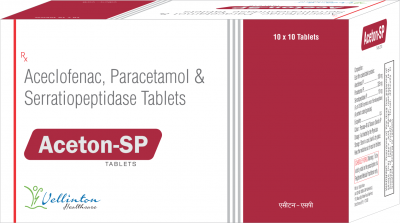 Acelofenac 100mg+Paracetamol 325mg+Serratiopeptidase 10mg
