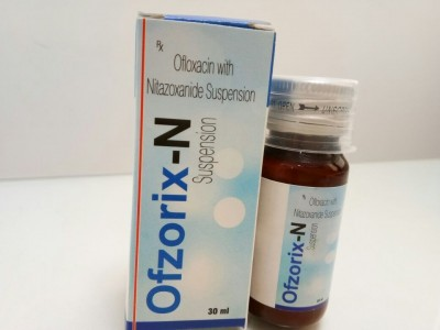 Ofloxacin, with Nitazoxanide Suspension