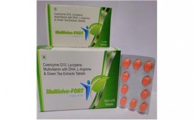 Coenzyme Q10 + Lycopene + multivitamin with DHA+L-Arginine &  Green Tea Extracts