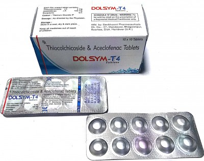 Acelofenac 100 mg + Thicocolchicoside  4mg