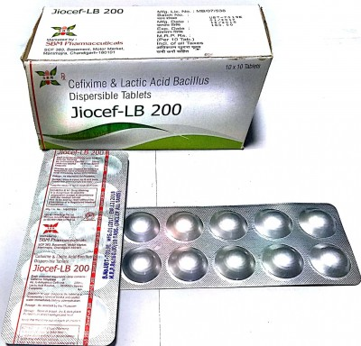 Cefixime 200 Mg+ Lactic Acid Bacillus 60 million spores