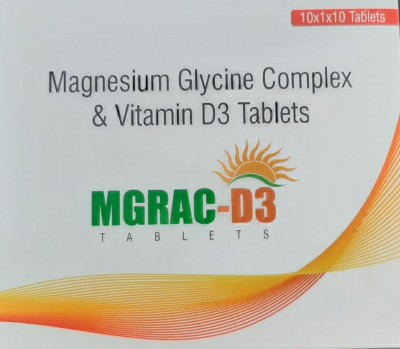 MAGNESIUM GLYCINE COMPLEX & VITAMIN D3 TABLETS