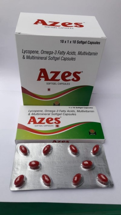 Lycopene , Omega -3 Falty Acids , Multivitamin & Multimineral Softgel Capsules