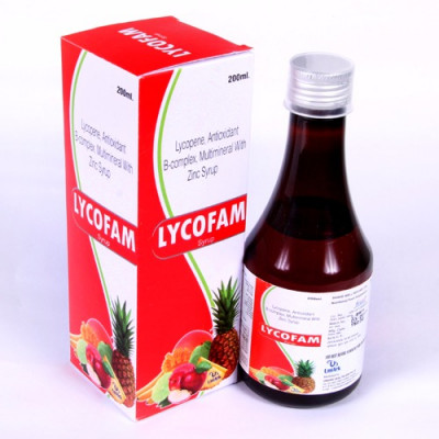 Lycopene+Methylcobalmine+Multivitamins+Multiminerals+ Antioxidant  Syrup (Sugar Free)