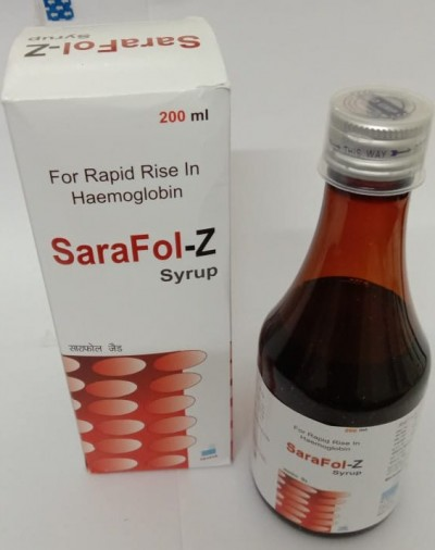Carbonyl Iron + Zinc Sulphate + Vit.B12 + Folic Acid Syrup with monocarton