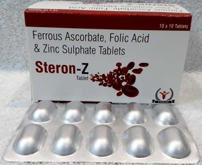 Ferrous Ascorbate 100mg+Folic Acid 1.5mg+Zinc