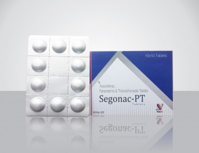 Aceclofenac 100mg  + Paracetamol 325mg  + Thiocolchicoside 4mg Tablet