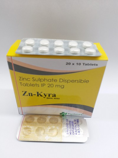 Zinc Sulphate Dispersible Tab By Psychocare Pharmabizconnect