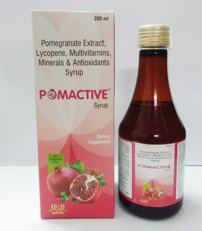 POMEGRANATE EXTRACT, LYCOPENE, MULTIVITAMINS , MINERALS & ANTIOXIDANTS SYRUP