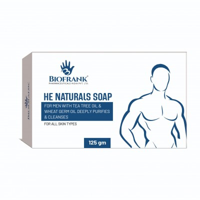 HE NATURAL SOAP FOR MEN WITH TEA TREE OIL &WHEAT GERM OIL
