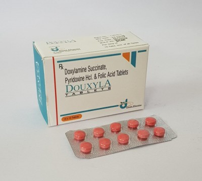 DOXYLAMINE SUCCINATE, PYRIDOXINE HCL & FOLIC ACID TABLETS