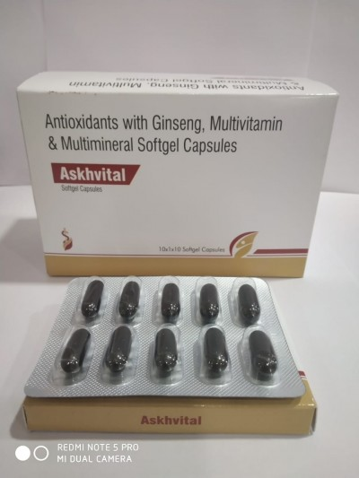 Antioxidant with Ginseng , Multivitamin & Multimineral Softgel Capsules