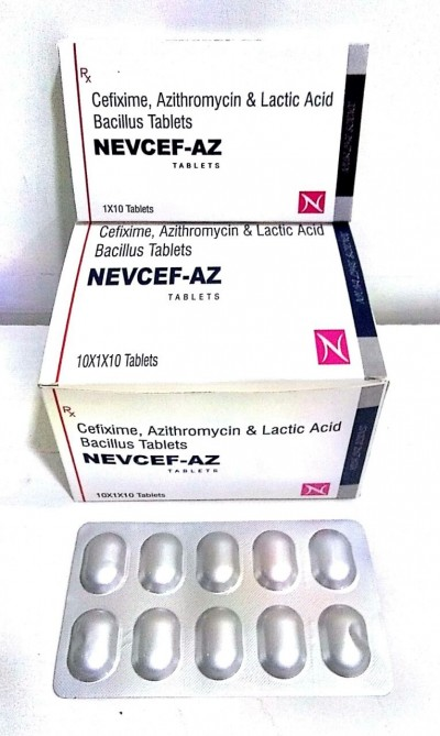 Cefixime 200 mg  and Azithromycin 250 mg