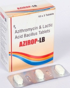 Azithromycin 500mg with Lactic Acid Bacillus tablet