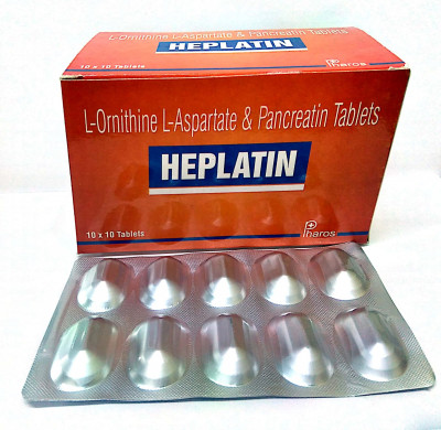 L-Ornithine L-Aspartate 150mg+ Pancreatin 100mg.