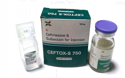 Ceftriaxone 500 Mg + Sulbactam 250 Mg