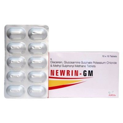 DIACEREIN-50MG+GLUCOSAMINE-750MG+MSM-250MG Tablets