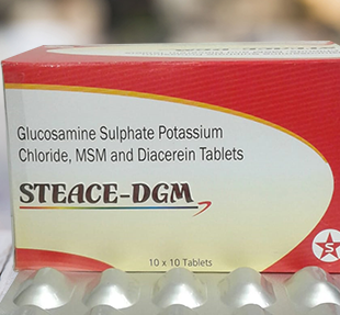 GLUCOSAMINE SULPHATE POTASSIUM CHLORIDE,MSM AND DIACEREIN TABLETS
