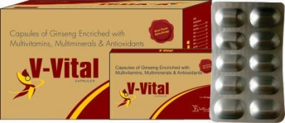 Capsules of ginseng enriched with multivitamins,multiminerals & antioxidants