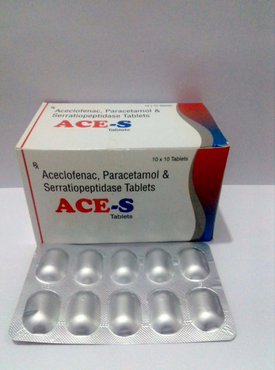 ACECLOFENAC  100MG+  PARACETAMOL-500MG+ SERRATIONPEPTIDASE-15MG