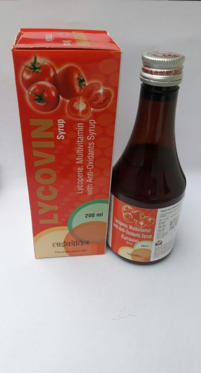 Lycopene , Multivitamin with anti oxidants Syrup