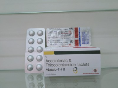 Aceclofenac 100mg + Thicolchicoside 8mg